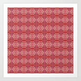 113 - red and purple pattern Art Print