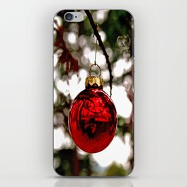 Simple Christmas bulb iPhone Skin