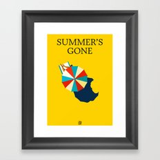 Summer's gone Framed Art Print