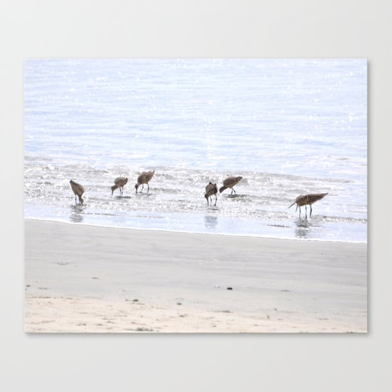 Picnickers  Canvas Print