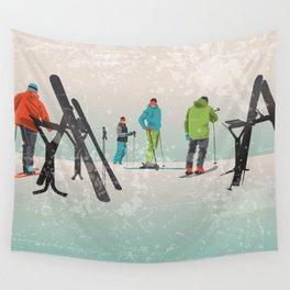 Skiers Summit Wall Tapestry