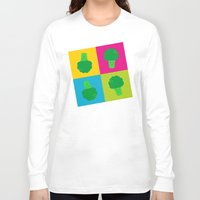 popart Long Sleeve T-shirts featuring Popart Broccoli by XOOXOO