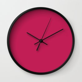 Rose red - solid color Wall Clock
