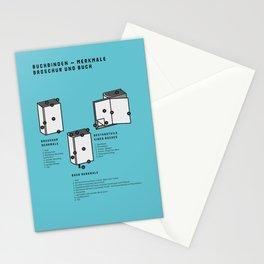 Buchbinden – Merkmale Broschur und Buch (in German) Stationery Cards