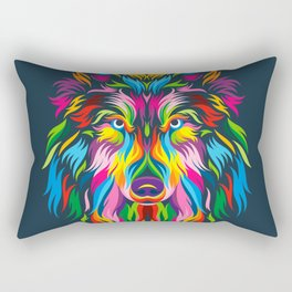 Full Color Wolf Rectangular Pillow