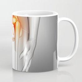 3D female medical figure with hip bone highlighted Coffee Mug