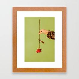 rose x green Framed Art Print