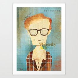 Woody Allen  Art Print