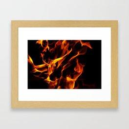 Flames Pattern Framed Art Print