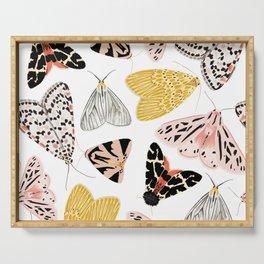Moth's Diverse Beauty Pattern Serving Tray