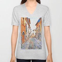 L'Aquila: glimpse city Unisex V-Neck