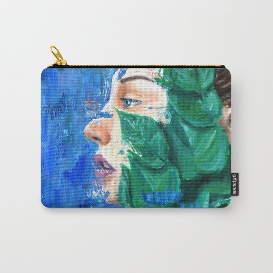 Leaves and face Carry-All Pouch
