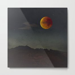 Blood Moon Rising Metal Print