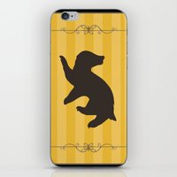 hufflepuff iPhone & iPod Skins featuring Hufflepuff by Winter Graphics