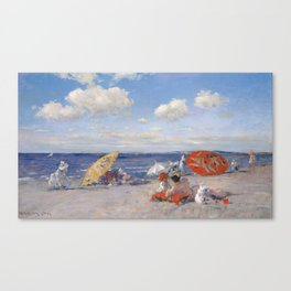 At the Seaside, William Merritt Chase 1892 Canvas Print