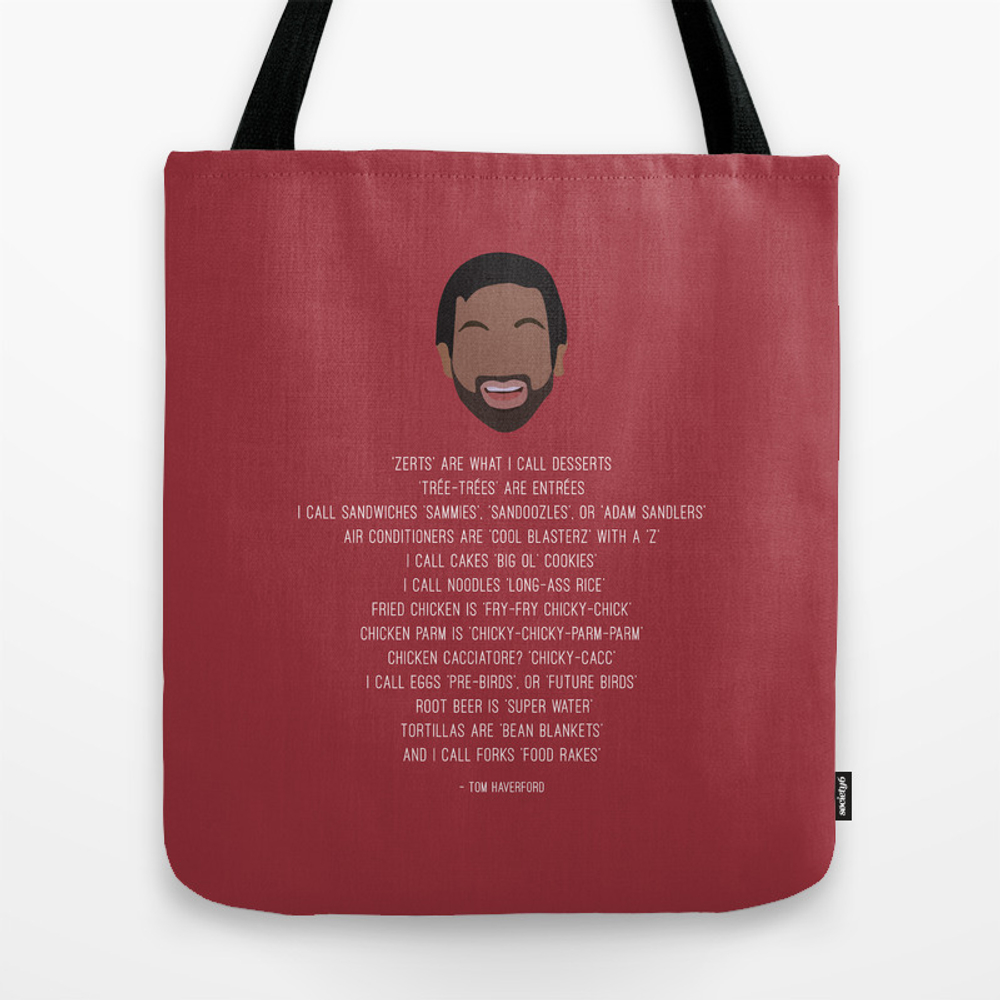 Tom Haverford-isms Tote Bag by Shes_that_wallflower TBG4002568