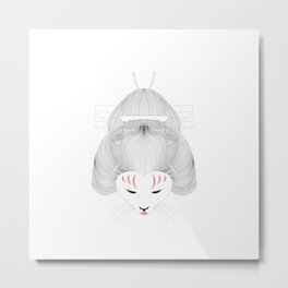 Neko Geisha Metal Print