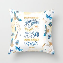 SILENCE THAT DREAMED OF BECOMING A SONG Throw Pillow
