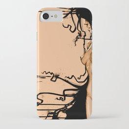 Aqua Dark orange iPhone Case