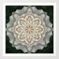 Inner Gardenia Glow Art Print
