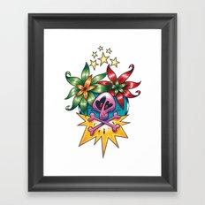 Tatouage de Mégane Framed Art Print