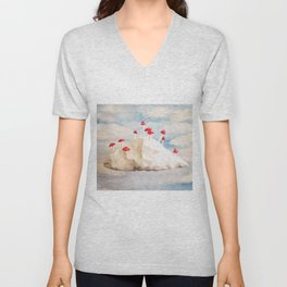 Mushroom Cloud  Unisex V-Neck