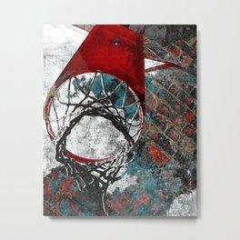 Basketball artwork 28 swoosh Metal Print
