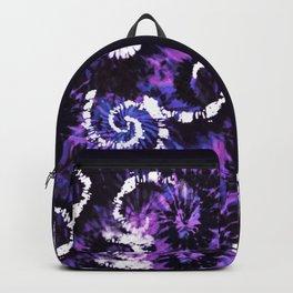 Purple Twisting Mess TieDye Backpack