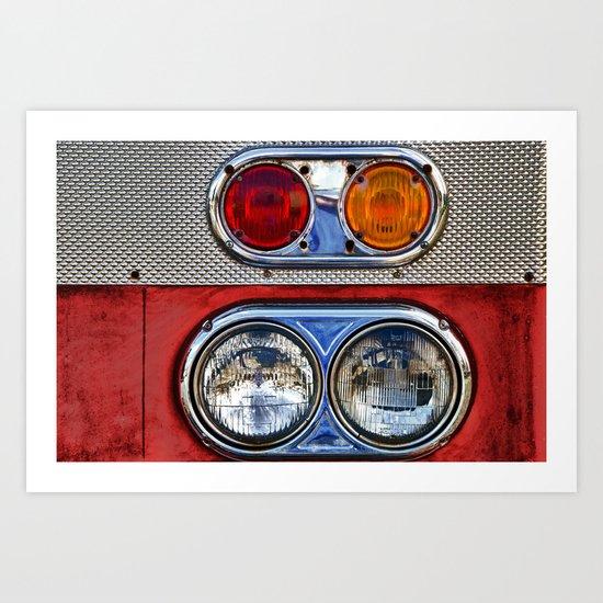 Old Fire Lights Art Print