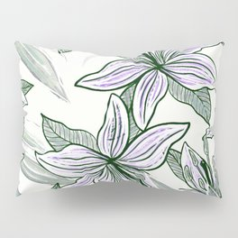 Purple Lilly Pillow Sham