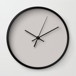 Pastel Light Gray Solid Color Pairs with Sherwin Williams 2020 Trending Color Grayish SW6001 Wall Clock