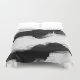 Hello from the The White World Duvet Cover