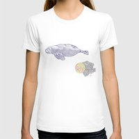 manatee T-shirts featuring Space Manatee by Kristin Garcia