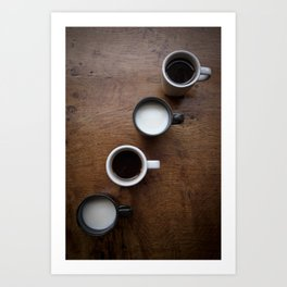 coffee and milk II. Art Print