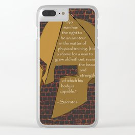 """No man has the right...."" Socrates Quote Clear iPhone Case"