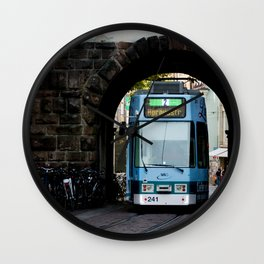 Streets os Freiburg Wall Clock