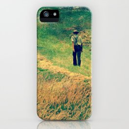 Walking Through The Hay Field iPhone Case