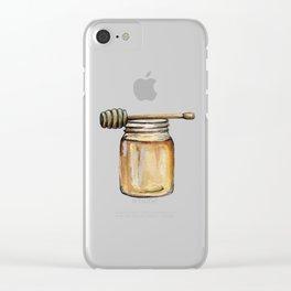 Honey Jar, Honey Bees Clear iPhone Case