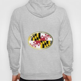 Maryland State Flag Oval Button Hoody