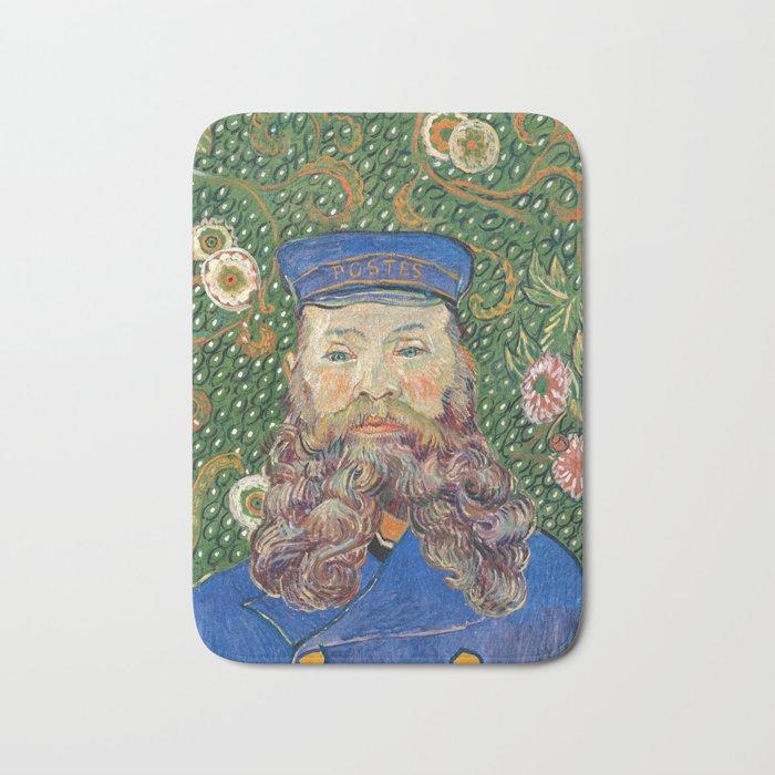 Portrait of the Postman Joseph Roulin by Vincent van Gogh Bath Mat