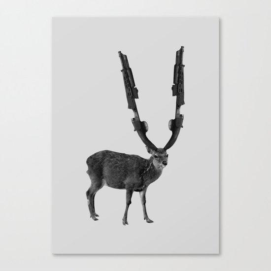 gun deer Canvas Print