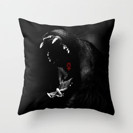 Roaring Animal Mouth Throw Pillow