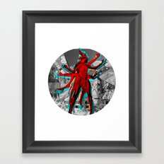 Essence Of Life · Trying to Escape · bw · Crop Circle Framed Art Print