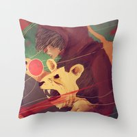 courage Throw Pillows featuring Courage by James M. Fenner