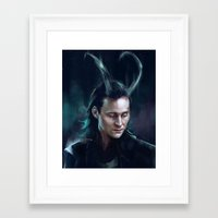 loki Framed Art Prints featuring Loki by feredir