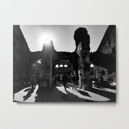 Silhouette Colosseo Metal Print