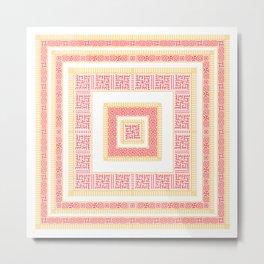 Slavic Square Mandala - Odolen Trava - Symbol Metal Print