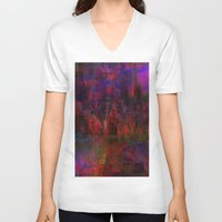 moulin rouge V-neck T-shirts featuring Rouge city by Ganech joe