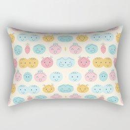Cute Cartoon Head Pattern Art Rectangular Pillow
