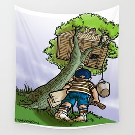 Treehouse Wall Tapestry